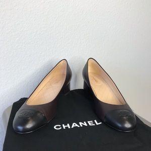 ▪️Chanel▪️logo toe heeled flats